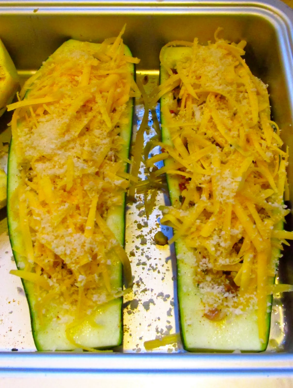 Vegetarian Stuffed Zucchini With Parmesan Panko Recipes — Dishmaps