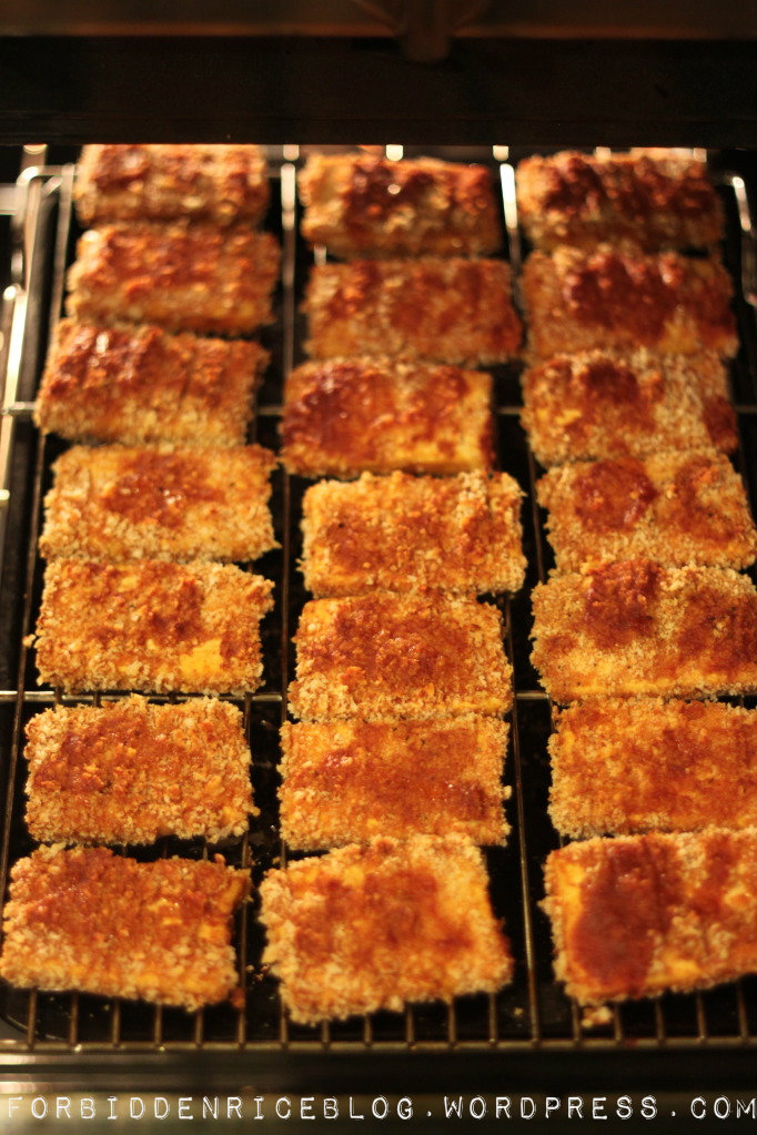 Forbidden Rice Blog | Baked Barbecue Panko Tofu
