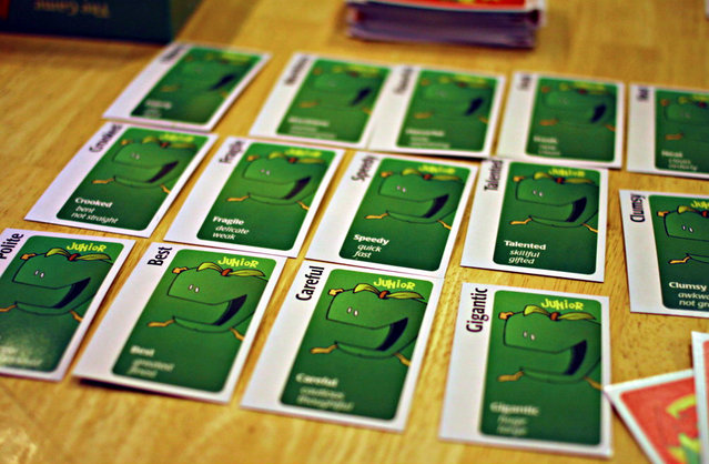 There was a brutal game of Apples to Apples Junior one night. Guess who won? Mmm hmm.