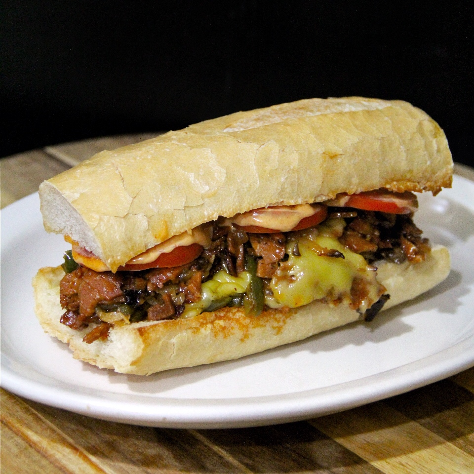 Meatless Monday Vegan Philly Cheese Steak With