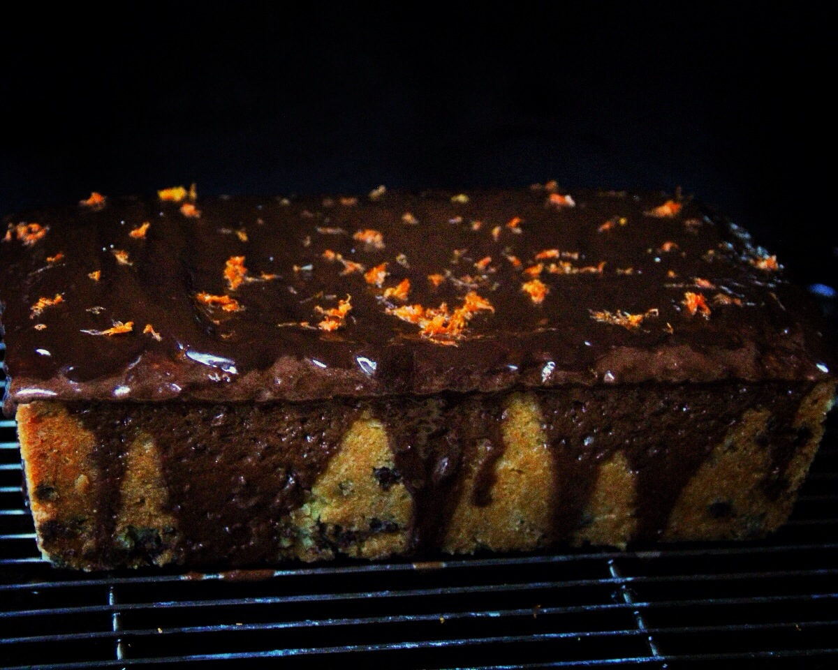 Forbidden Rice Blog | Chocolate Orange Cream Cheese Pound Cake