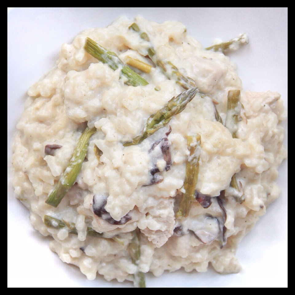 Forbidden Rice Blog | Risotto with Roasted Asparagus, Mushrooms, and Chik'n