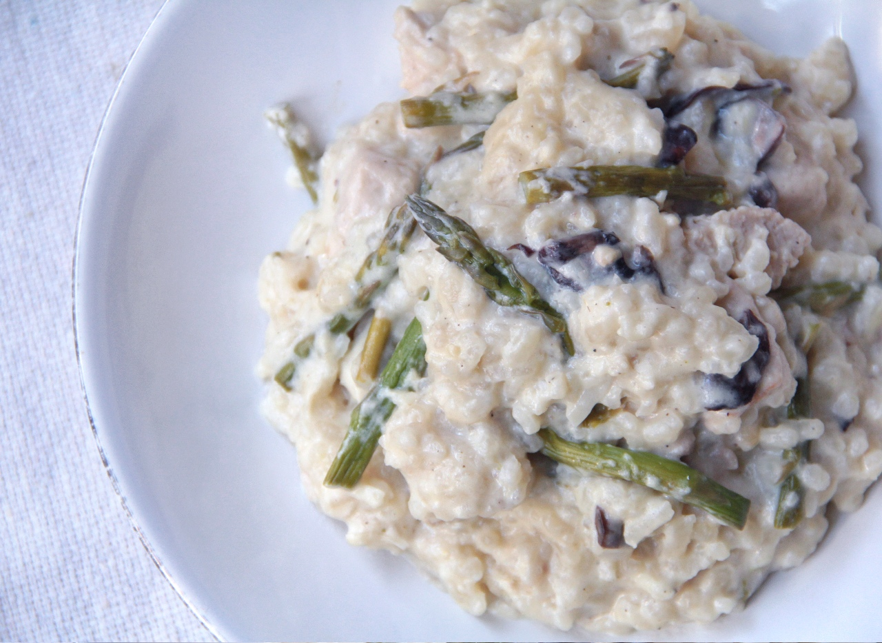 Forbidden Rice Blog   Risotto with Roasted Asparagus, Mushrooms, and Chik'n